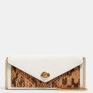 $159 *NEW* COACH Slim Envelope Wallet With Chain